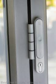 doors secure slim line pop out t handles on each intermediate panel allow for tight stacking panels