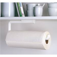 Amazon.com - InterDesign Paper Towel Holder for Kitchen - Wall Mount/Under  Cabinet, White - Paper Towel Holder Under Cabinet