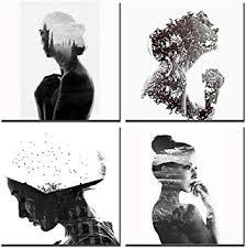 Gardenia - Creative Double-Exposure <b>Girl</b> Women <b>Abstract Portrait</b>