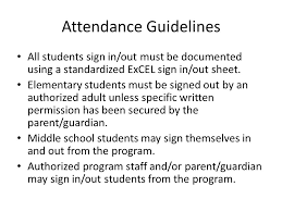 Site Coordinator Meeting September 18, Attendance Guidelines ...