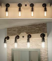 rustic industrial style bathroom vanity light wood beam edison bulbs with inspirations 11 rustic bathroom vanity lights38 lights