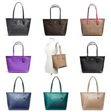 Image is loading Coach-F58292-F58846-City-Zip-Tote-Outlet-Exclusive-