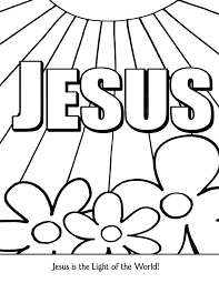 Small Picture Jesus Light of the World Coloring Page New Hope Material