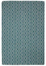 toulouse teal blue white eco cotton loom hooked rug