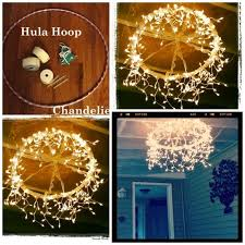 How To Make A Chandelier From A Hula Hoop