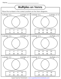 Math Venn Diagram Worksheet Venn Diagram Worksheets