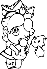 baby turkey coloring pages. Fine Turkey Baby Turkey Coloring Pages  Rosalina Peach Daisy And As Babies  Page Gallery Throughout T
