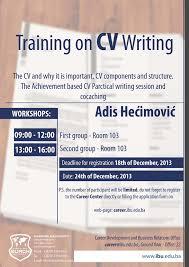 Resume Writing Classes Unique Training On Cv Writing International Burch  University