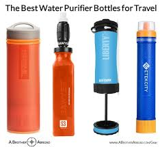 Water filter bottle Fruit The Best Travel Water Purifier Bottles For Travel Review By Brother Abroad The Best Portable Water Purifier And Filter Bottles For Travel