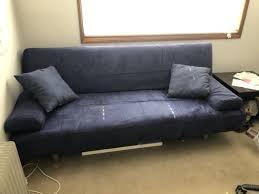 dark blue futon style lounge sofas gumtree australia brisbane south west fig tree pocket 1196457785
