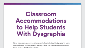 teaching strategies what works best child instructional strategies graphic of at a glance classroom accommodations for dysgraphia