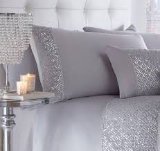 shimmer embellished duvet silver sparkle bedding beautiful