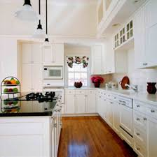 white country galley kitchen. Fine Kitchen Galley Kitchen French Country White Granite Built In Oven The  Rhgemlataxecom Say Galley Oui To Throughout White Country Kitchen
