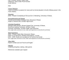 Sample Resume For Working Students With No Work Experience Sample Resume For High School Students With No Work Experience 50