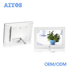 hot 10 inch digital picture frames with remote control and motion sensor