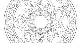 Free Printable Mandalas Coloring Pages Adults Mandala For Easy Only