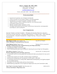 Respiratory Therapy Resume Examples Resume Pinterest