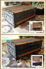 old trunk coffee tables vintage trunk turned coffee table vintage trunks easy projects and coffee steamer trunk coffee table uk