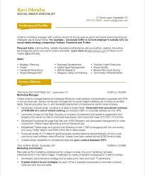 Marketing Resume Examples Sample Resume For A Marketing