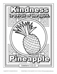 Coloring is fantastic fun and our printable coloring pages have something for everyone. Fruit Of The Spirit For Kids Kindness Coloring Page