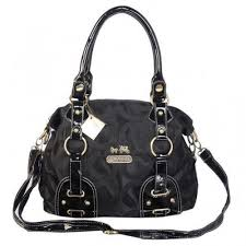 Coach Madison In Monogram Medium Black Satchels BOK Coach Madison Logo  Signature ...