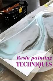 Resin painting techniques. Learn how to use several colors to 'dirty pour'  resin