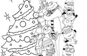 Small Picture minion christmas coloring pages Just Colorings