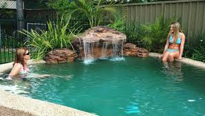 inground pools with waterfalls and slides. Inground Pools With Rock Slides Natural Swimming Pool Water Picture Of Beautiful Designs Waterfalls And P