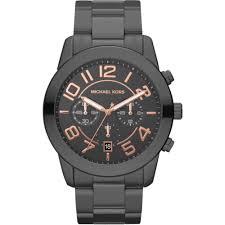 michael kors mercer chronograph men s watch mk8330 greybox mall michael kors mens gunmetal grey mercer chronograph watch
