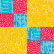 89 best Four patch Quilt blocks images on Pinterest | Quilt blocks ... & Easy Quilt Patterns | pic double four patch quilt pattern Free quilt block  patterns by Janet Adamdwight.com