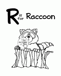 Small Picture Letter R Alphabet coloring pages for kids Letter R words