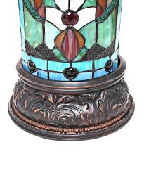blue green red amber teal stained glass fleur de lis