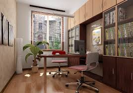 Amazing Modern Small Home Office Design With Wood Parquet Floor And Delectable Classic Home Office Design