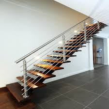 china exterior stainless steel cable rails wooden steps straight staircase china staircase stairs
