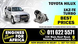 New Toyota Hilux 3.0Tdi 1KZ-TE Turbocharger FOR SALE | Junk Mail