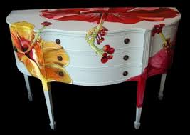 floral decoupage furniture. Furniture With Floral Decoupage L
