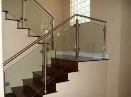 image of glass stair railing modern