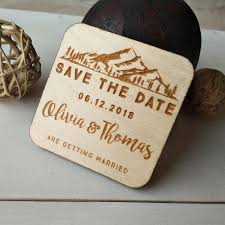 details about rustic wooden save the date magnets custom wood save the dates wedding fridge