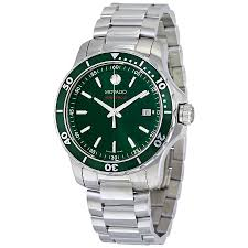 movado series 800 green dial stainless steel men s watch 2600136