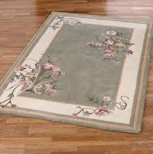sage green fl area rug