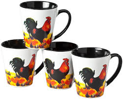 Make an impression with stunning personalized gifts. Amazon Com Walterdrake Rustic Rooster Coffee Mugs Each 8 Oz Set Of 4 Glazed Ceramic Mugs Kitchen Dining
