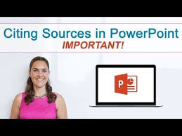 how to cite sources in powerpoint it