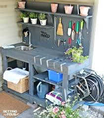build a garden hose reel how to make a gorgeous potting bench from pallet wood it build a garden hose reel