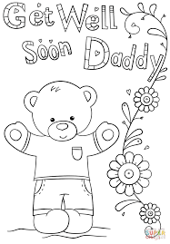 Small Picture Coloring Pages Get Well Soon Coloring Page Free Printable