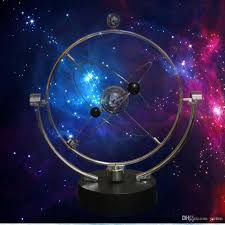 kinetic orbital revolving gadget perpetual motion desk art milky way toy office decor educational science art unique novelty gifts novelty toys