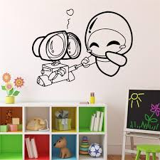 wall e and eve wall decal cartoons robots vinyl sticker home decor ideas interior removable on vinyl wall art ideas with wall e and eve wall decal cartoons robots vinyl sticker home decor