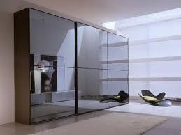 a wide angle shot of brown xian wardrobe maxi sliding closet doors it is made