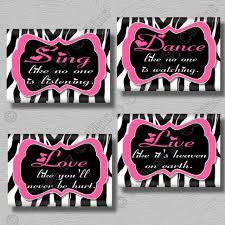 Pink And Black Wallpaper For Bedroom Decor 6 Zebra Room Decor Ideas Hot Pink Radial Zebra Print Heart