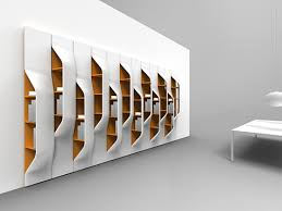 Awesome And Innovative Bookshelf White Colored Wall One Side Look Modern  Design Best