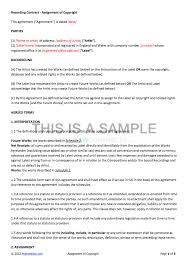 Recording Contract Template NonExclusive Recording Contract Template 1
